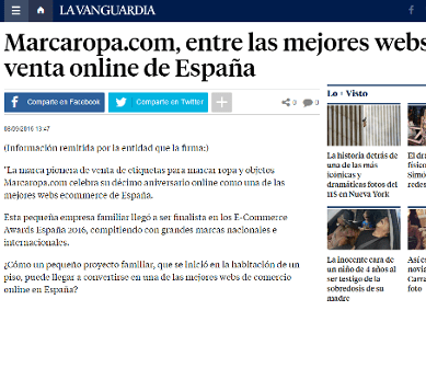 Marcaropa.com, among the best websites of online sales of Spain