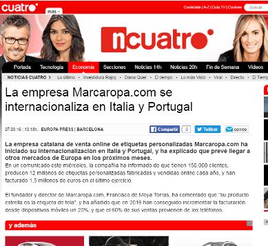 Noticias Marcaropa imagenListado noticiascuatro