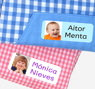 Vinyl photo labels for clothing and objects