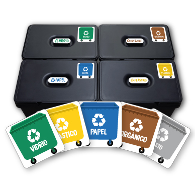 Recycling bins Stickers