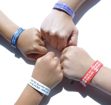 Personalized wristbands for kids