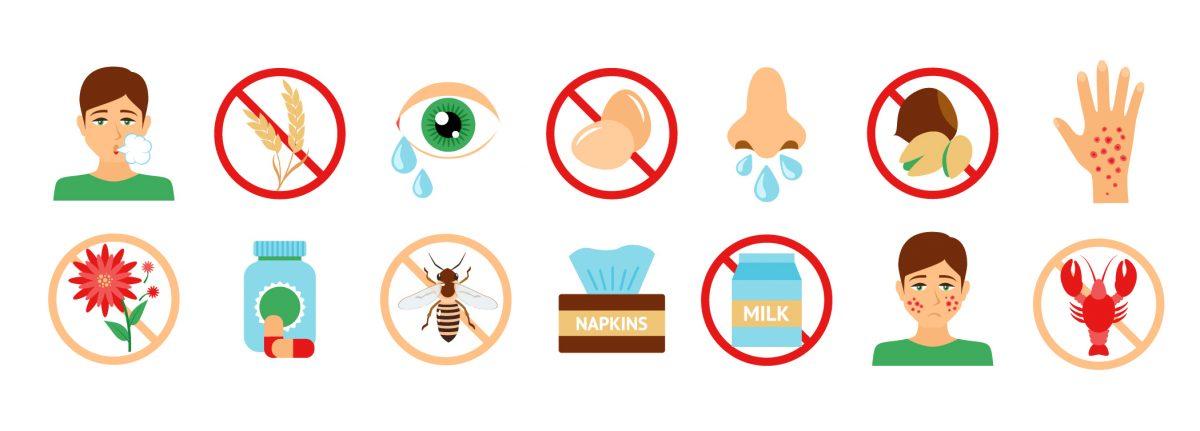 Infografía de alergias