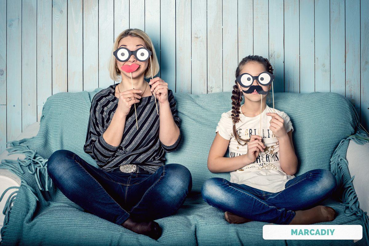 Carnaval con niños: Etiquetas y Stieckers