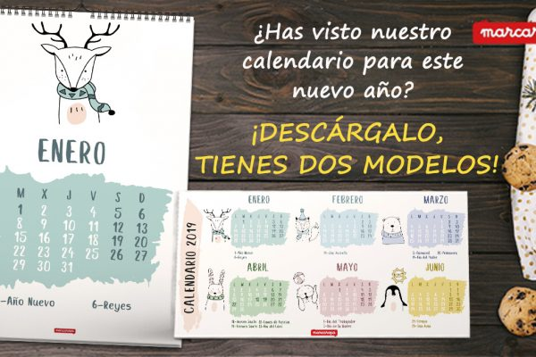 Descargar Calendario 2019 de Pared o Sobremesa